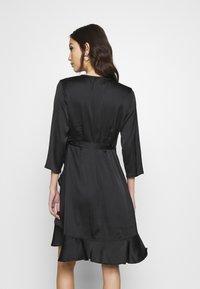 Vero Moda - VMHENNA WRAP DRESS - Cocktail dress / Party dress - black - 2
