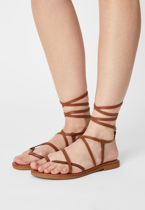 TABA - Sandals - tobacco