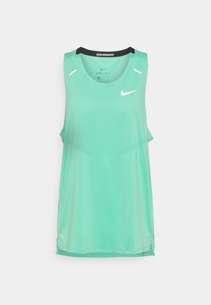 RISE TANK - Camiseta de deporte - green glow/reflective silver