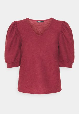 ONLDORA PUFF  - Print T-shirt - pomegranate