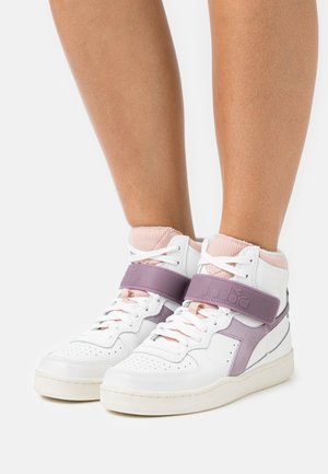MI BASKET MID ICONA - Sneakers hoog - white/nirvana/evening sand