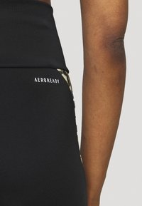 adidas Performance - BELIEVE THIS 2.0 LACE AEROREADY WORKOUT COMPRESSION 7/8 LEGGINGS - Collants - black/hazbei - 3