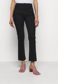 Mother - THE HUSTLER ANKLE FRAY - Jeans Skinny Fit - black - 0