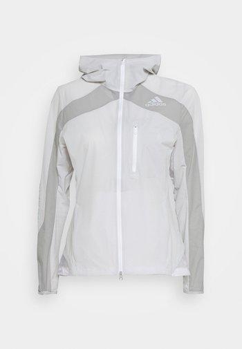 MARATHON - Waterproof jacket - white/grey