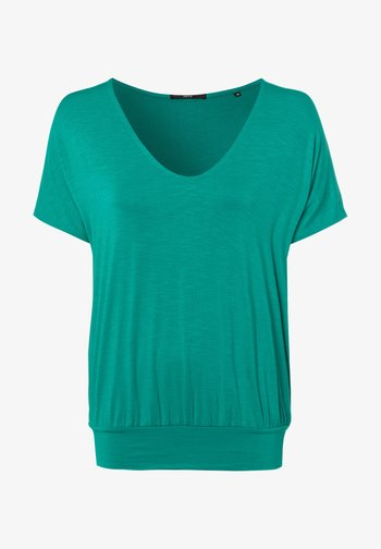 Print T-shirt - emerald green