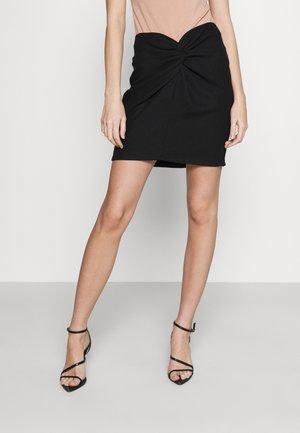 KNOT SKIRT - Mini skirt - black