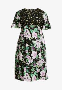 Simply Be - MIXED MIDI DRESS - Day dress - black - 4