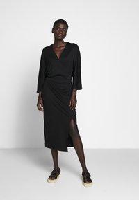 Filippa K - IRENE DRESS - Žerzejové šaty - black - 0