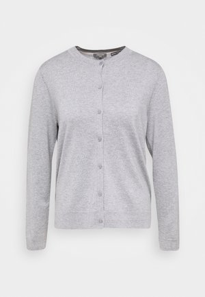 CARDIGAN ROUND NECK - Cardigan - soft light grey melange