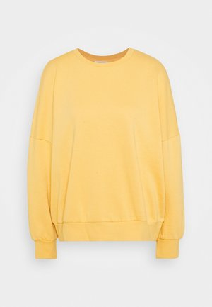 OVERSIZED CREW NECK SWEATSHIRT - Sweater - ochre