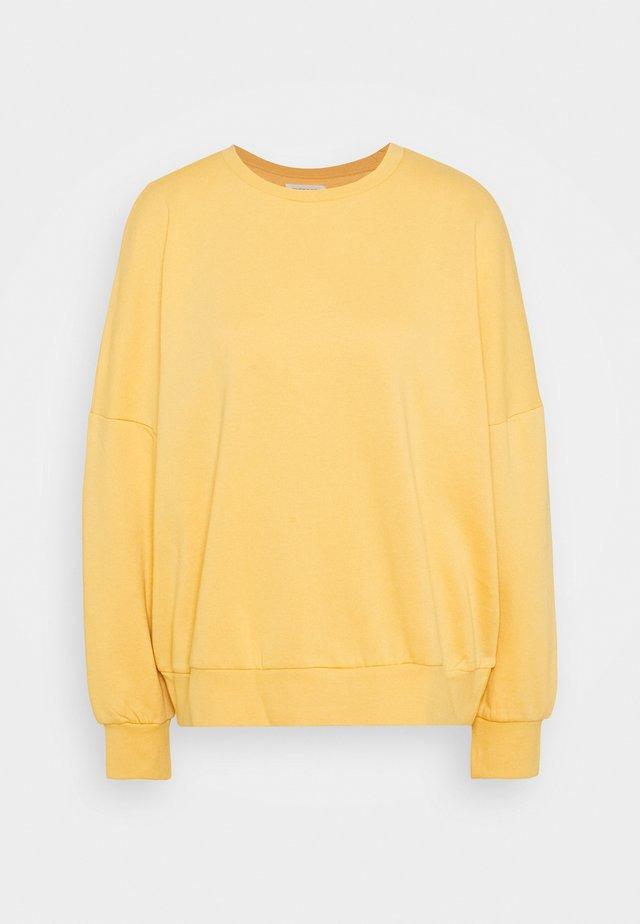 OVERSIZED CREW NECK SWEATSHIRT - Sweatshirt - ochre