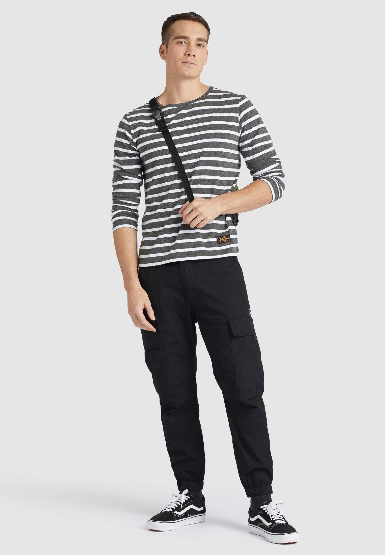khujo PAJARO - T-shirt à manches longues - dunkelgrau
