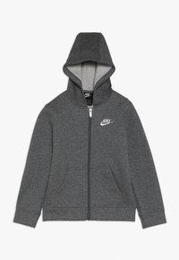 Nike Sportswear - CLUB HOODIE - Felpa con zip - carbon heather - 0