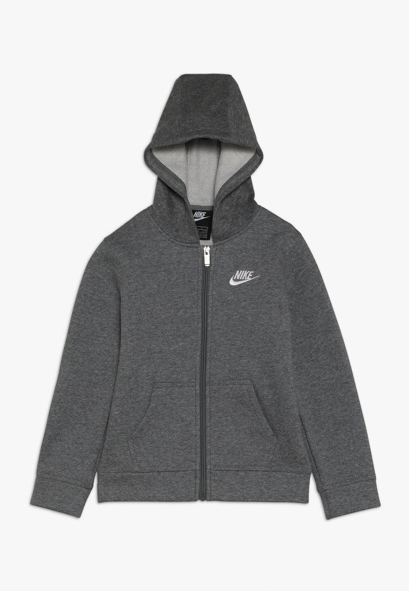 Nike Sportswear - CLUB HOODIE - Felpa con zip - carbon heather