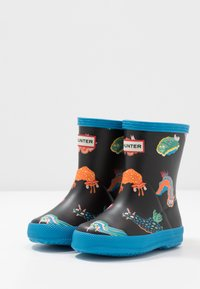 Hunter ORIGINAL - KIDS FIRST CLASSIC SEA MONSTER PRINT - Wellies - blue bottle - 3