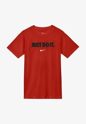 UNISEX - T-shirts print - university red white