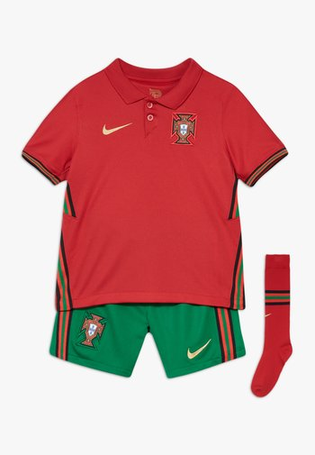 PORTUGAL HM SET - Sports shorts - gym red/metallic gold
