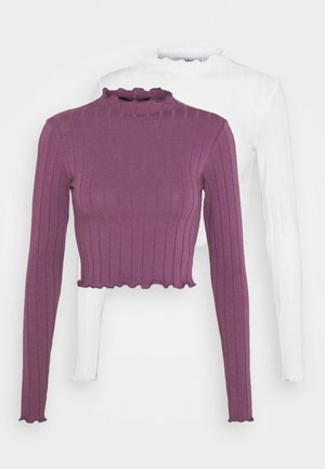 BLAZE 2 PACK - Long sleeved top - lilac/white