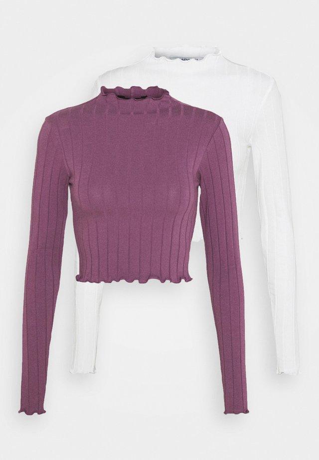 BLAZE 2 PACK - Langarmshirt - lilac/white