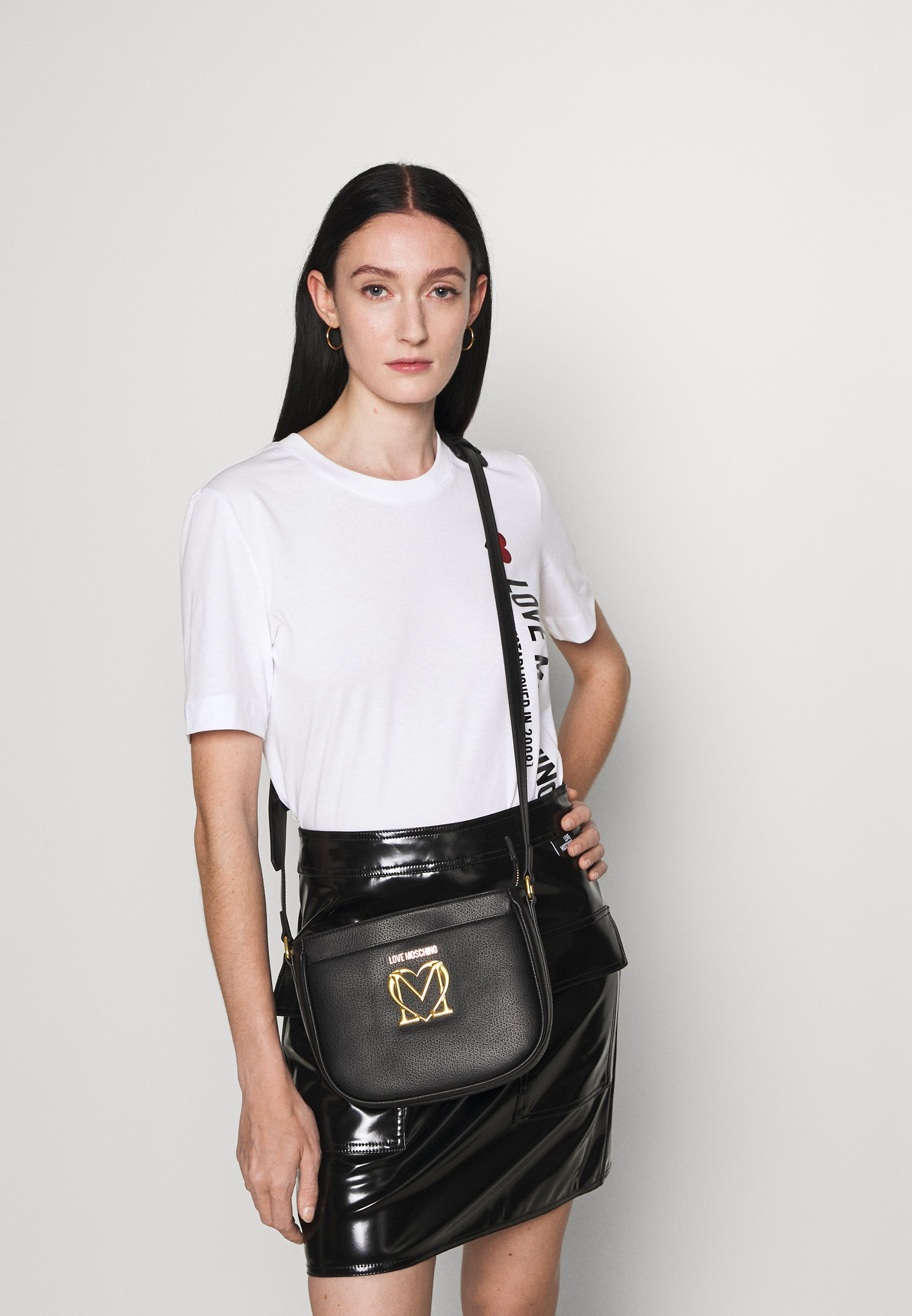 Women SCARF CROSSBODY SADDLE - Across body bag