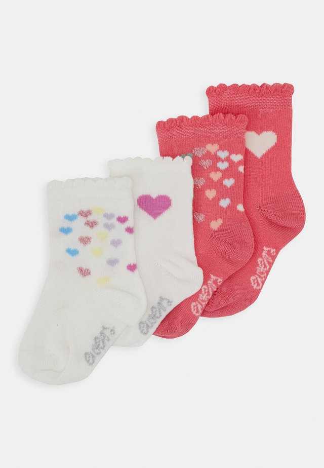 BABY HEARTS 4 PACK - Calze - pink/creme