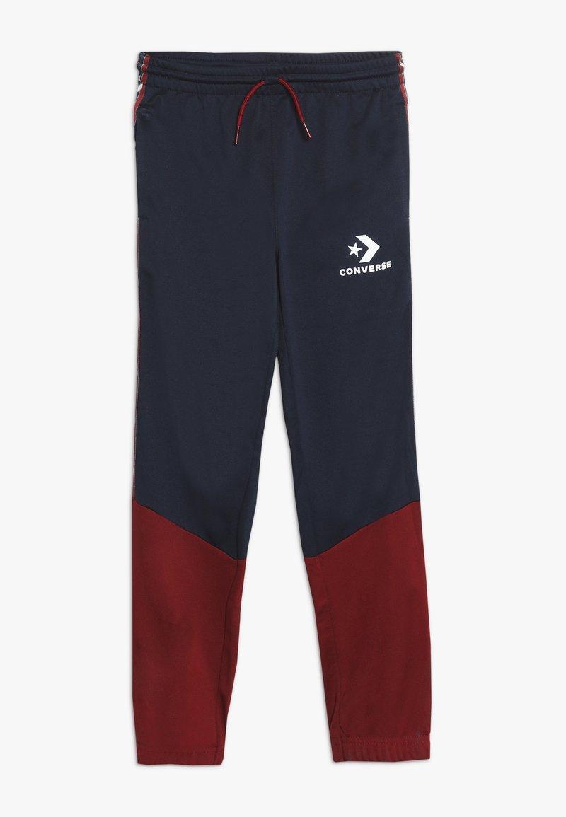 Converse - STAR CHEVRON COLORBLOCK TAPING TRACK PANT - Pantaloni sportivi - obsidian