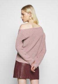 Even&Odd - BASIC-OFF SHOULDER - Sweter - rose - 2
