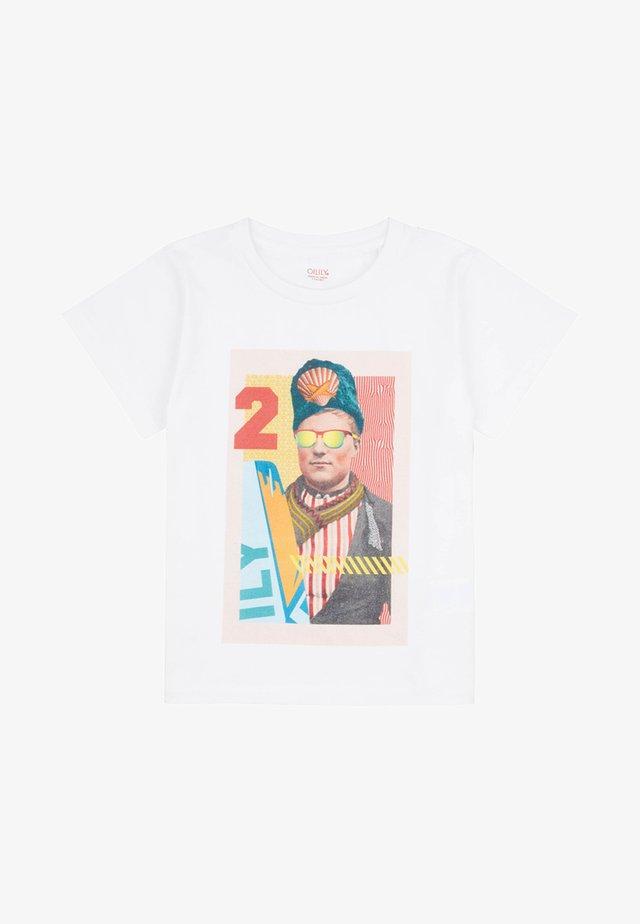 MET ANSICHTKAART - T-shirt print - white