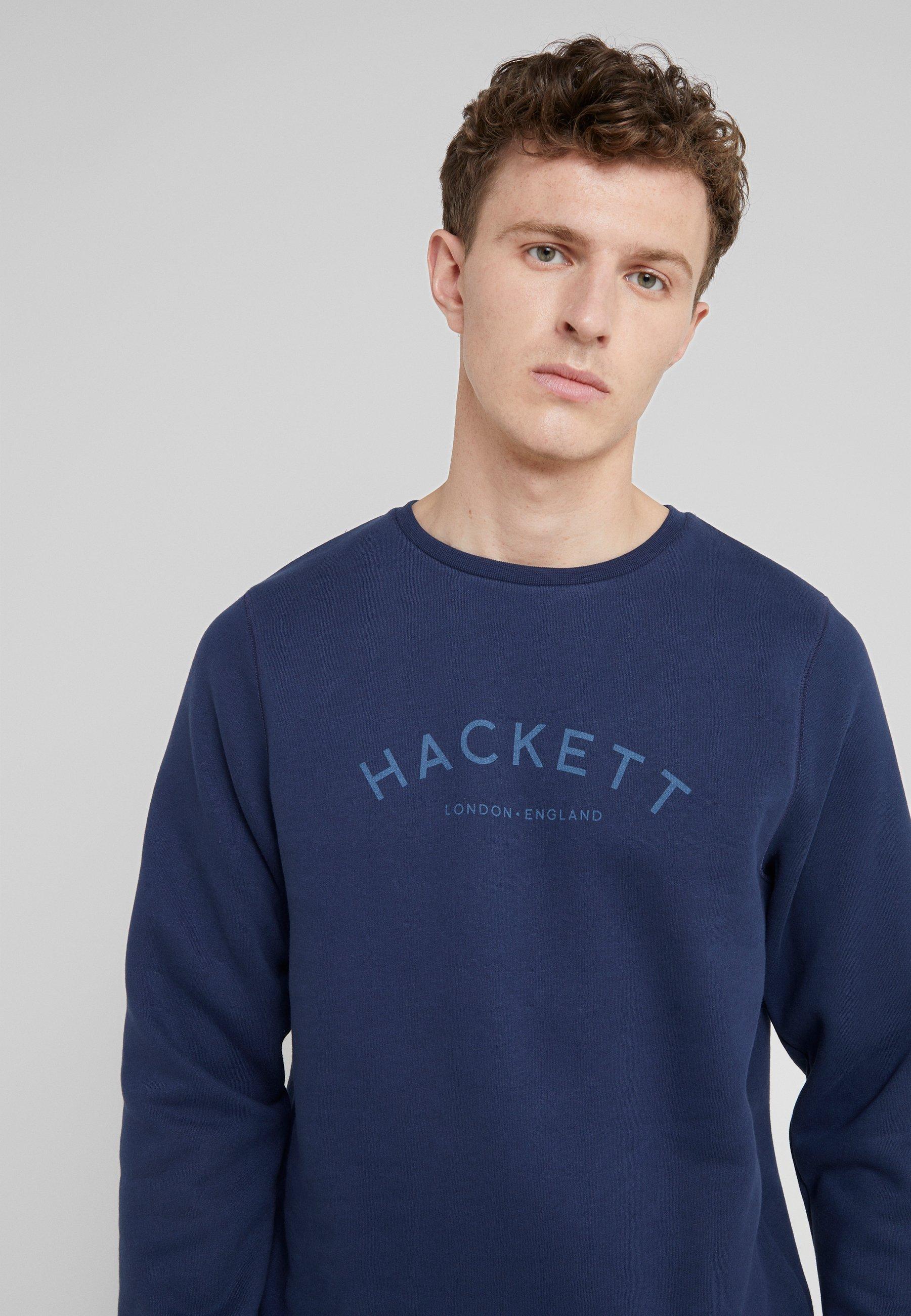 Kuuma Miesten vaatteet Sarja dfKJIUp97454sfGHYHD Hackett London LOGO CREW Collegepaita navy