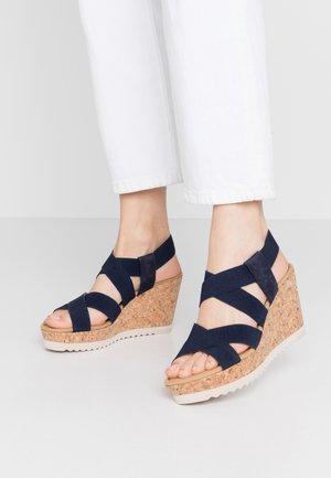 High heeled sandals - bluette