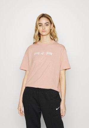 T-shirt print - pink oxford/white