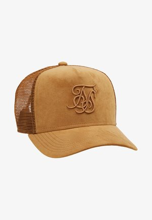SUEDE BENT PEAK TRUCKER - Pet - sand