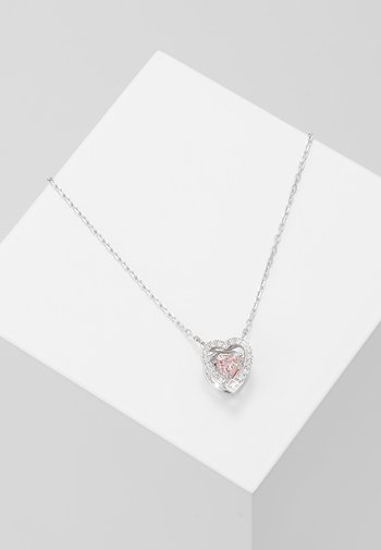 SPARKLING NECKLACE - Necklace - silver-coloured/rose