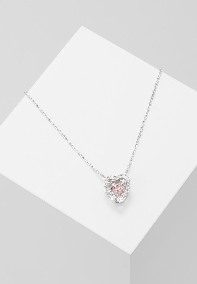 SPARKLING NECKLACE - Necklace - silver-coloured/rose