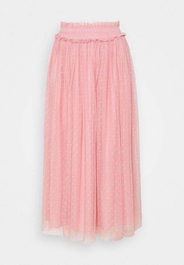 HONEYCOMB SMOCKED BALLERINA SKIRT EXCLUSIVE - A-line skirt - rose