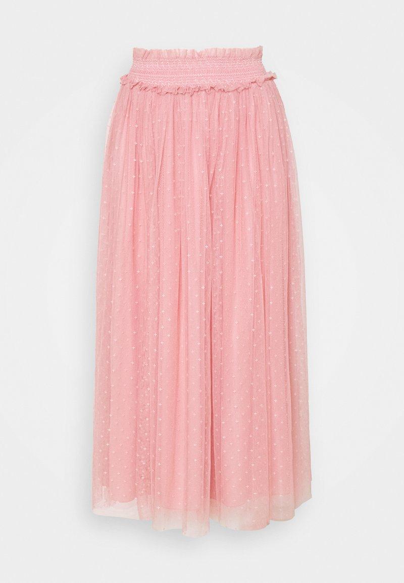 Needle & Thread - HONEYCOMB SMOCKED BALLERINA SKIRT EXCLUSIVE - A-line skirt - rose