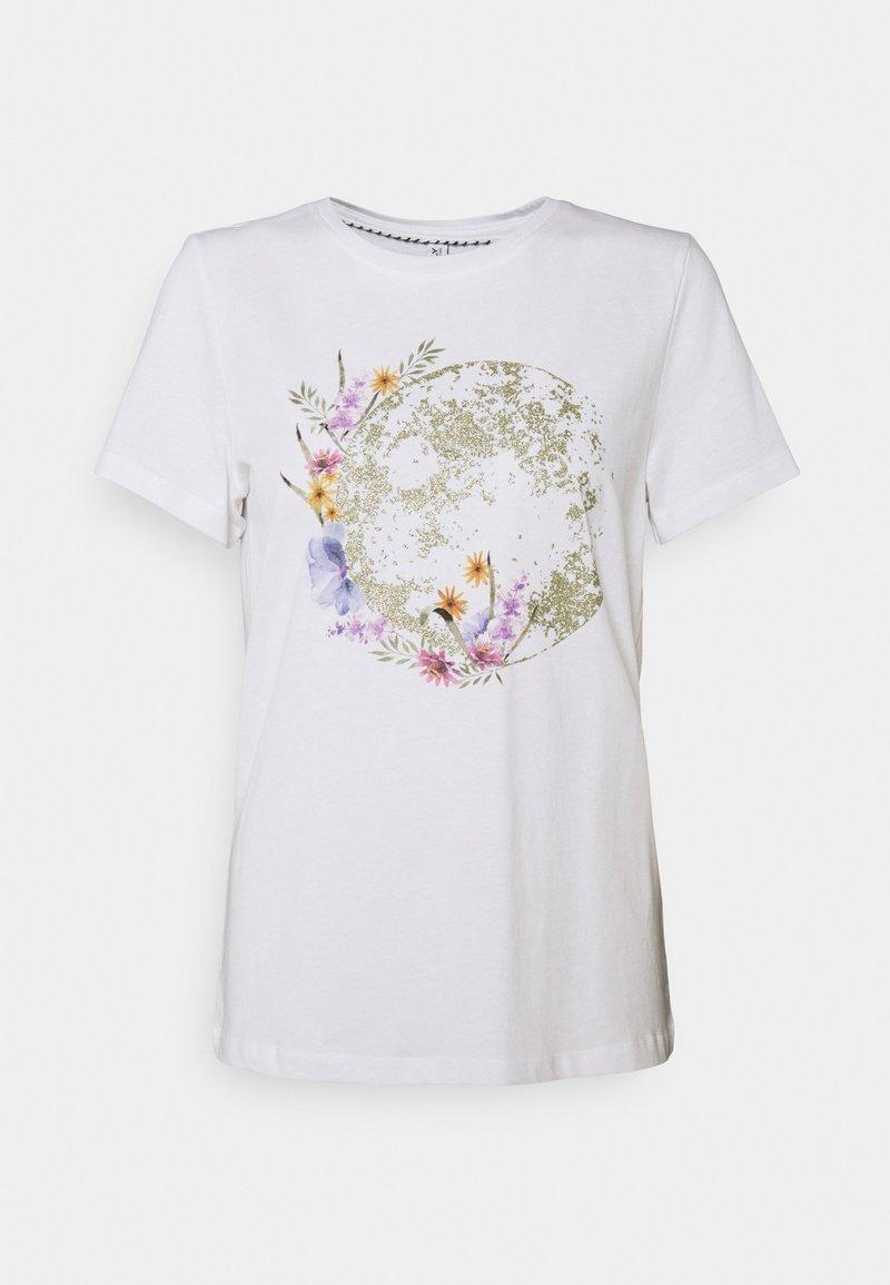 ONLY - ONLKITA LIFE PLANET - T-shirt imprimé - white