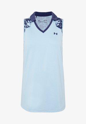 ZINGER SLEEVELESS BLOCKED - Sports shirt - blue frost/blue ink