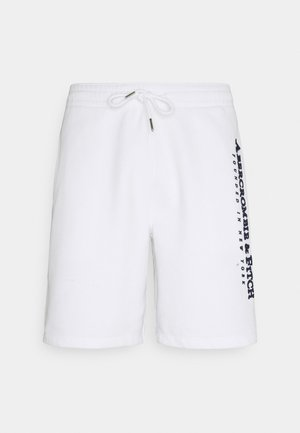 TECH LOGO - Tracksuit bottoms - white