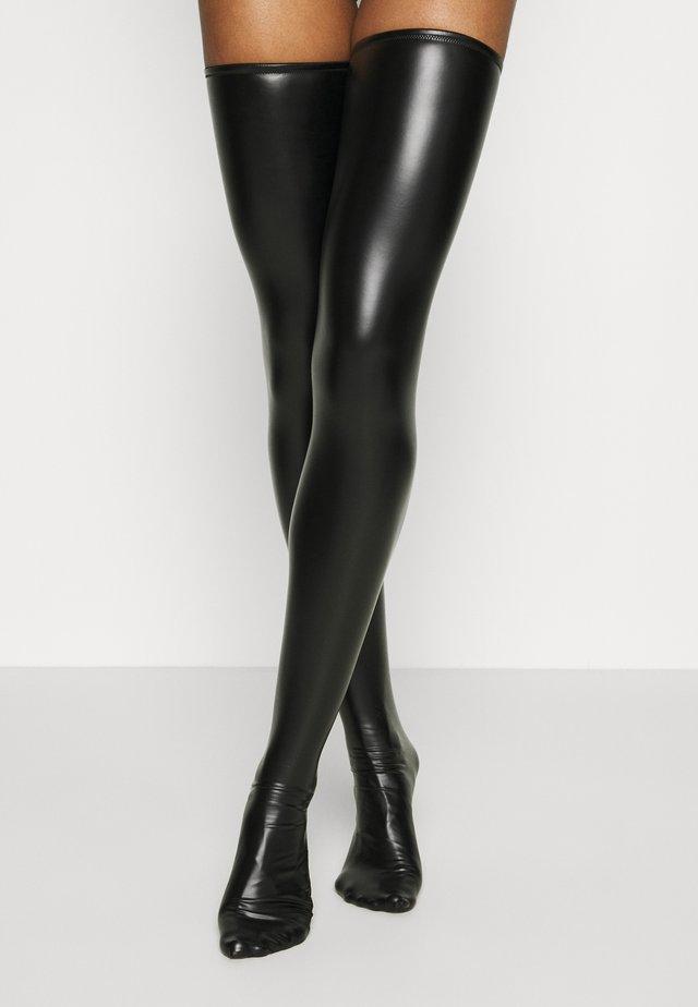 PRIVATE HIGH SOCKS - Overknee-strømper - black