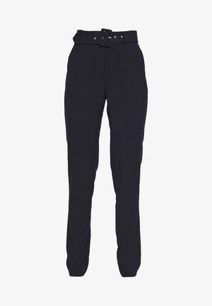 ONLTIKA FINI BELT PANT - Trousers - night sky
