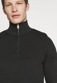Jack & Jones PREMIUM - JPRBLA BILLY HALF ZIP - Jumper - dark grey melange - 5