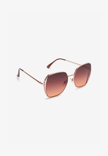 Sunglasses - rose gold coloured