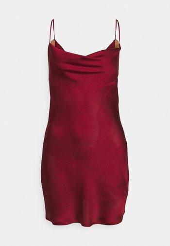 COWL NECK MINI DRESS - Vestito elegante - biking red