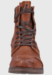 Mustang - Lace-up ankle boots - cognac - 3