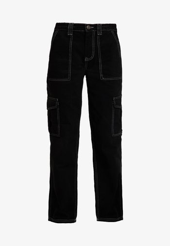 CONTRAST SKATE - Relaxed fit jeans - black