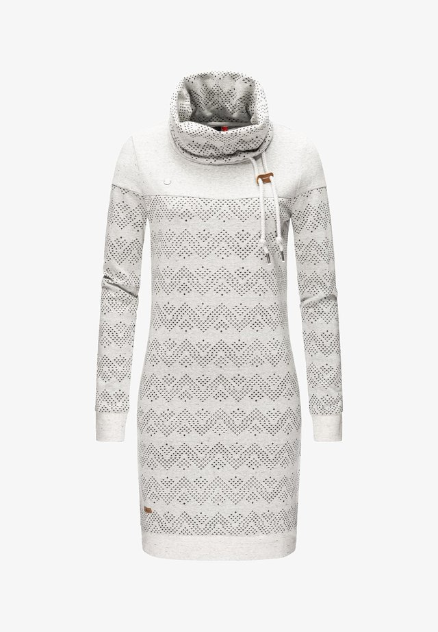 Jersey dress - weiß