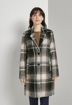 EASY PLAID  - Classic coat - green beige cozy check