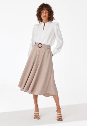 MORA - A-line skirt - beige