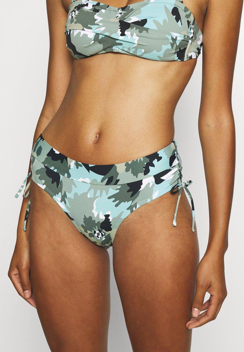 Esprit - HERA BEACH MID WAIST BRIEF - Bikini bottoms - khaki